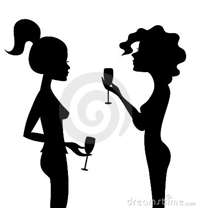 400x421 Female Silhouette Talking Clipart