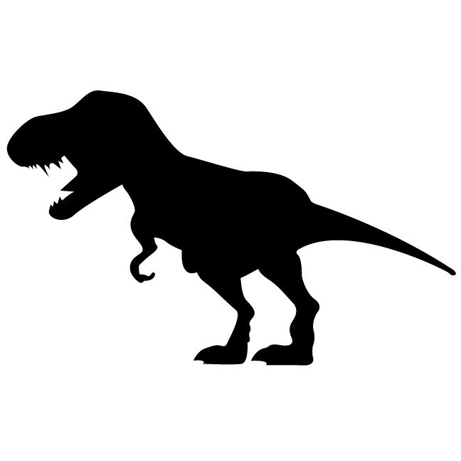 648x648 Large T Rex Dinosaur Chalkboard Wall Decal Wilsongraphics
