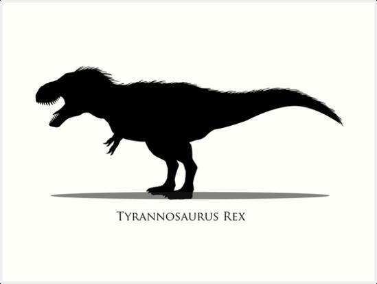 549x413 Tyrannosaurus Rex Silhouette Art Prints By Mfinbowdesign Redbubble