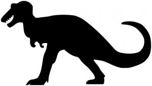 300x170 Tyrannosaurus Clipart Silhouette