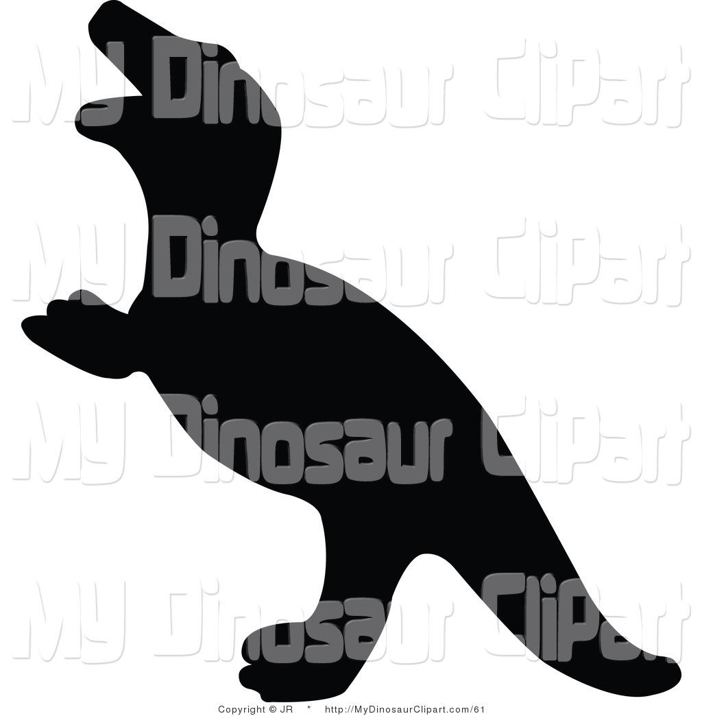 1024x1044 Clipart Of A Profiled Black Tyrannosaurus Rex Dinosaur Silhouette