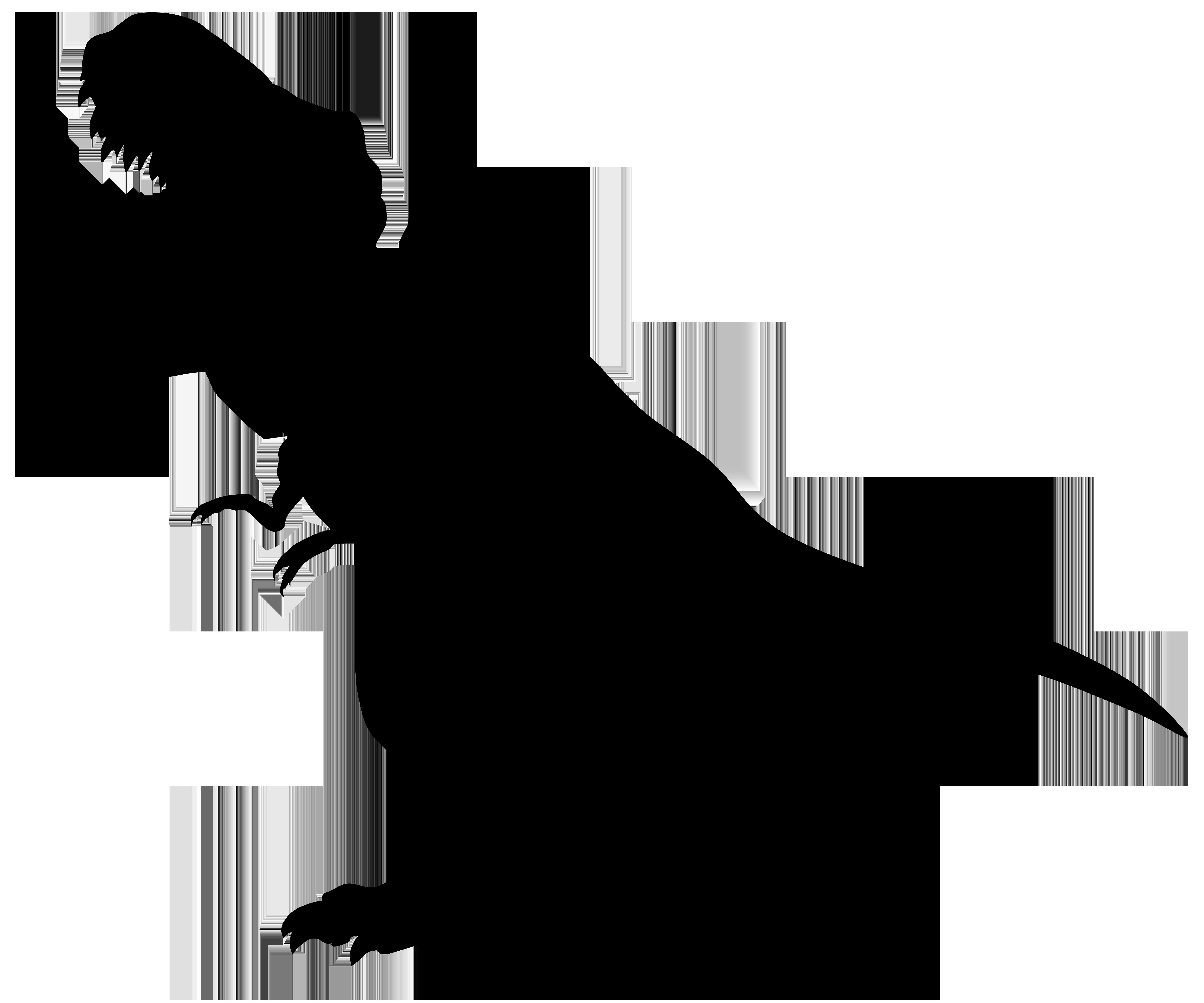 8000x6660 Dinosaur Rex Silhouette Png Transparent Clip Art Imageu200b Gallery