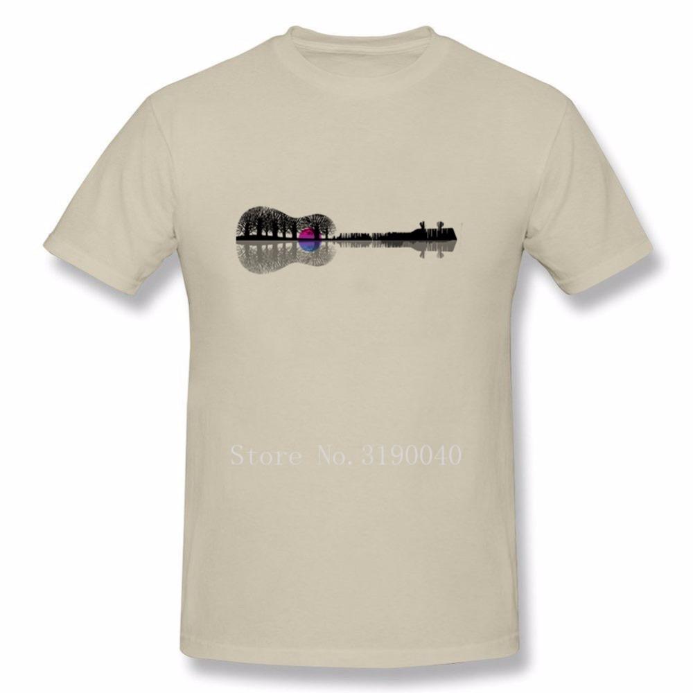 1000x1000 Music Instrument Tree Silhouette Ukulele Guitar Shape T Shirt Men