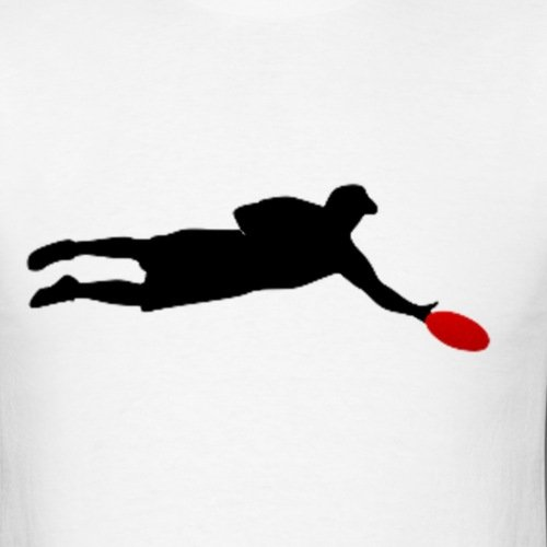 500x500 Summer 2017 Famous Brand Ultimate Frisbee Silhouette Men's Cotton