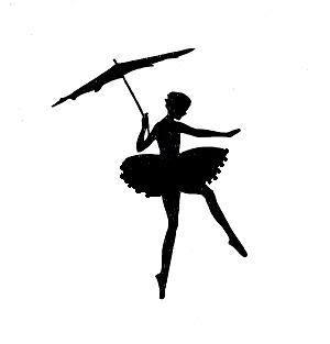 300x313 Stencil Ballerina With Umbrella Ballerina, Stenciling