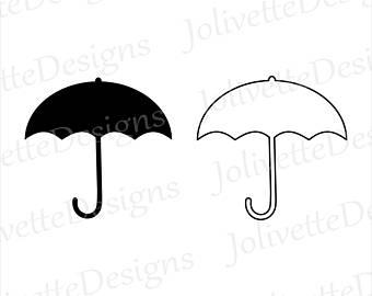 340x270 Umbrella Cut File Etsy