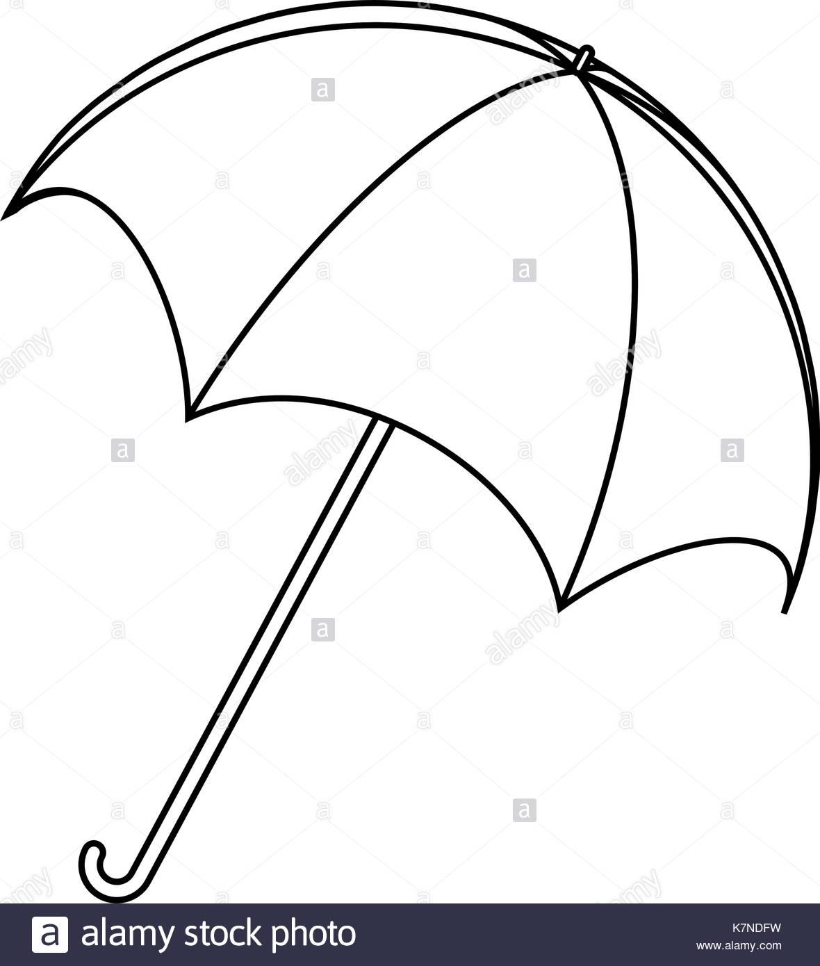 1180x1390 Umbrella Silhouette, Outline Vector Symbol Icon Design. Beautiful