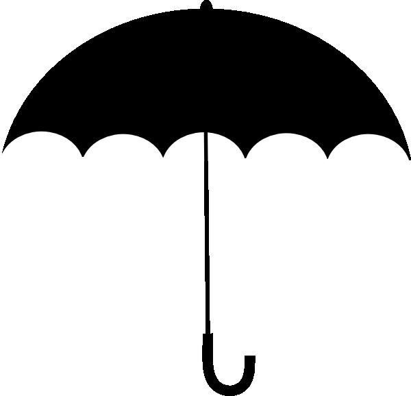 600x578 Black White Umbrella Clip Art