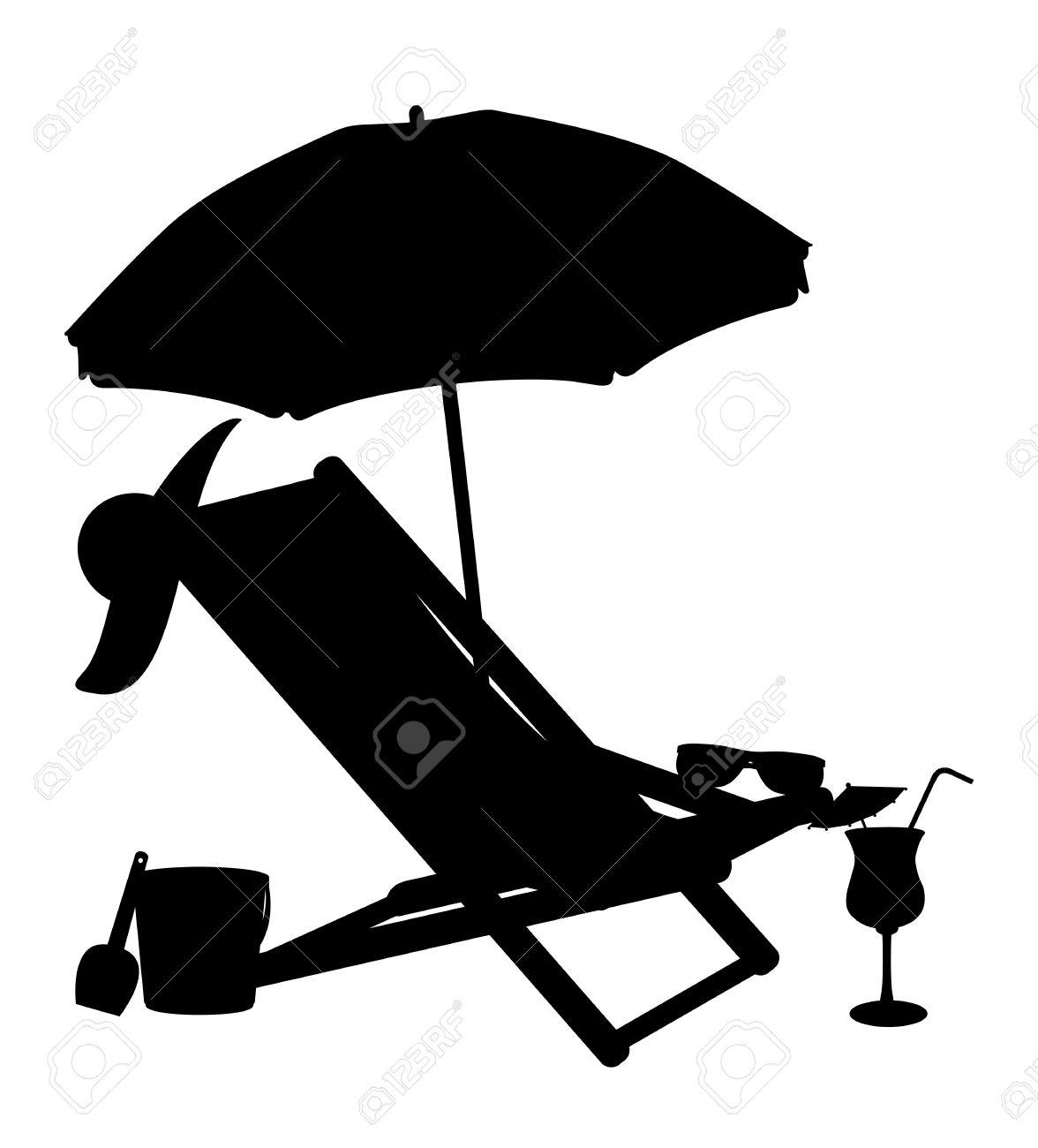1176x1300 Of Couple Lounging In Beach Chairs Clipart