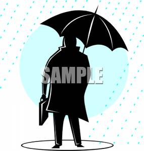 285x300 Art Image A Silhouette Of A Businessman With A Briefcase Under