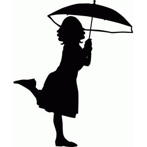 300x300 Black Silhouette Couple Under Umbrella