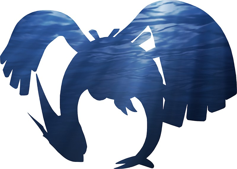 800x570 Lugia Underwater Silhouette Stickers By Frankie T Redbubble