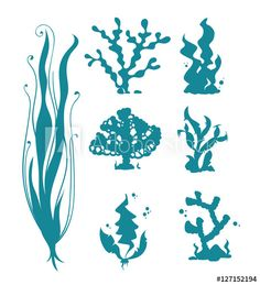 236x259 Mermaid Silhouette Coral Card Making And Crafts Supplies