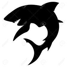 225x225 Shark Silhouette Siluetas Shark, Silhouettes