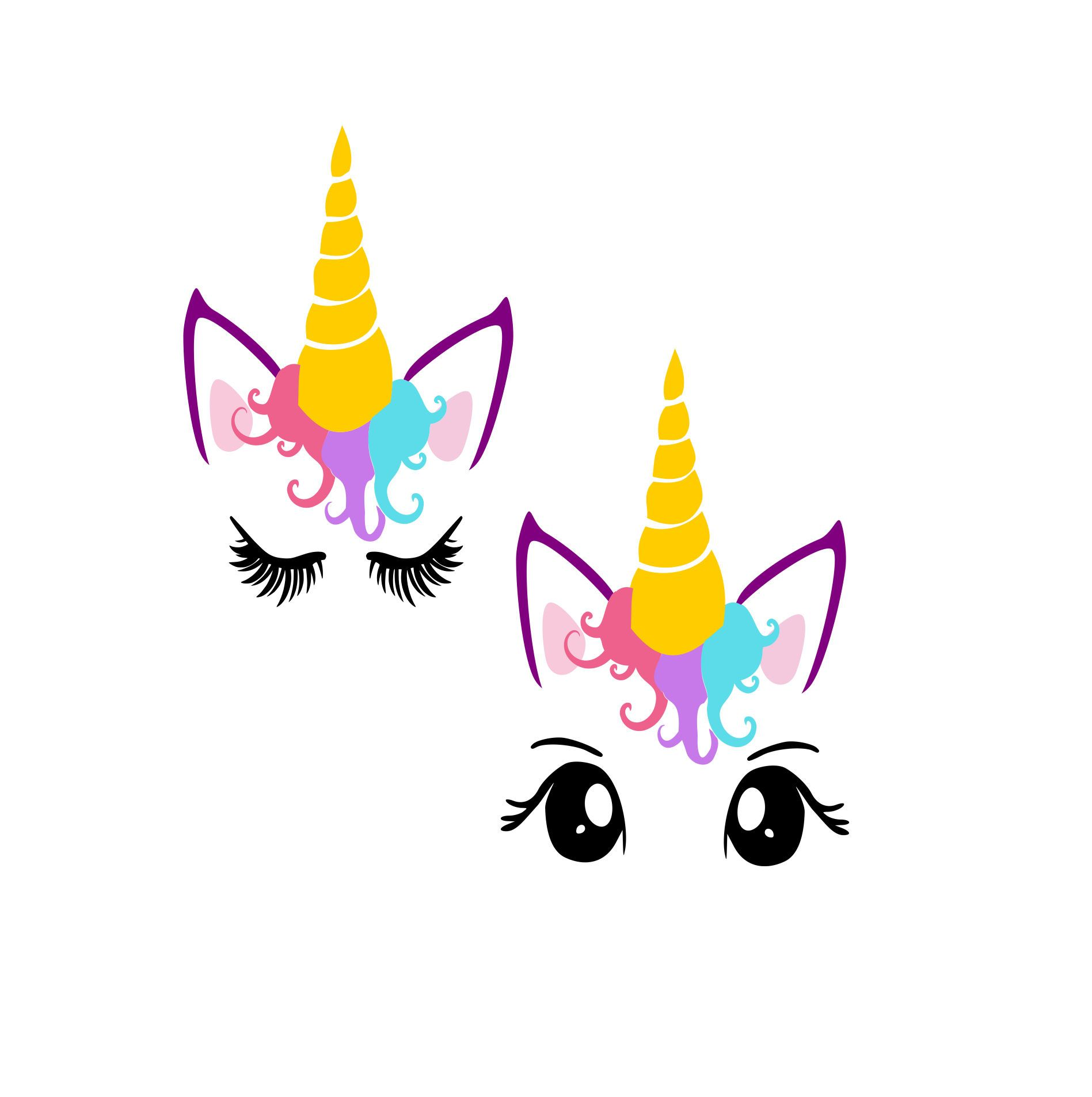 1897x1906 Unicorn Head Svg, Unicorn Svg, Unicorn Clipart, Unicorn Eyelashes