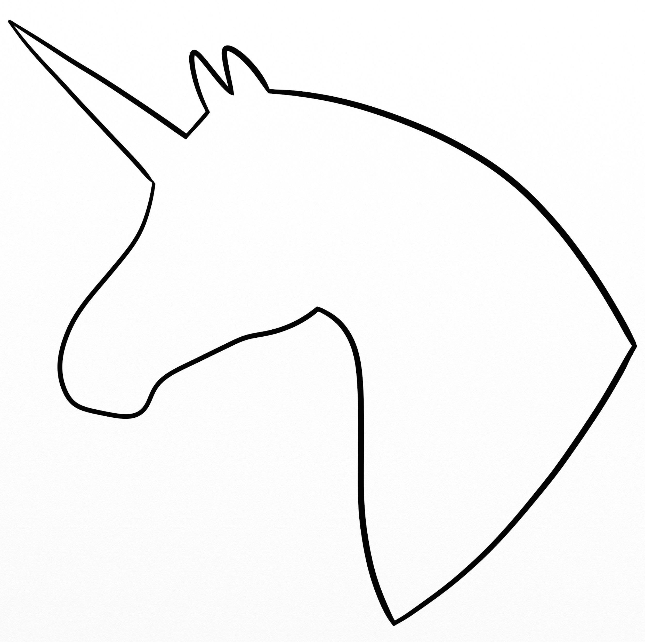 2500x2487 Unicorn Head Silhouette My Drawings Unicorn Head