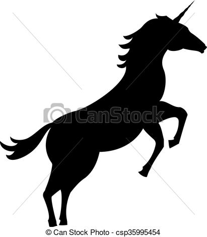 411x470 Fairy Unicorn Silhouette Isolated On White Background Clipart