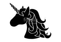 200x140 Unicorn Silhouette Head Black Silhouette Of Unicorn Vector