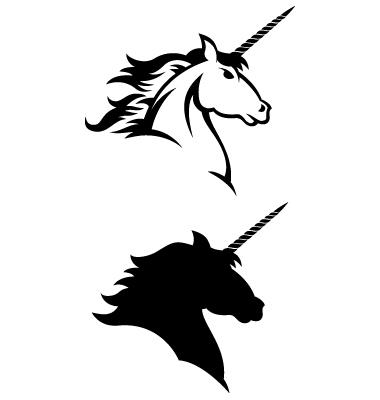 380x400 Unicorn Silhouette Unicorn Head Silhouette Free Clipart Images 4