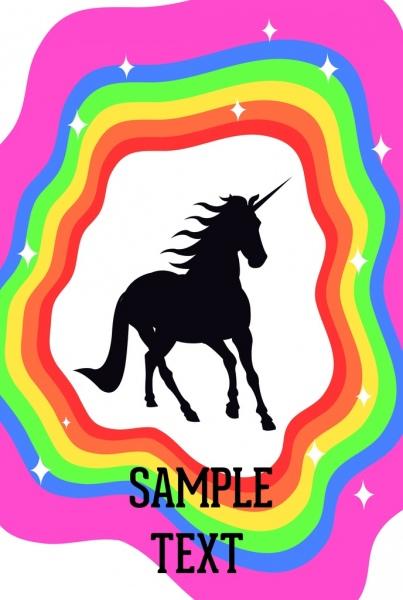 403x600 Legend Background Unicorn Silhouette Design Colorful Rainbow Decor