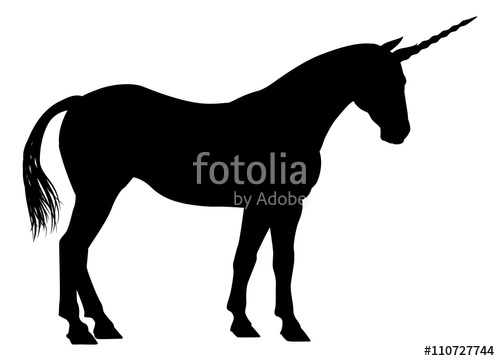 500x361 Unicorn Silhouette Stock Image And Royalty Free Vector Files