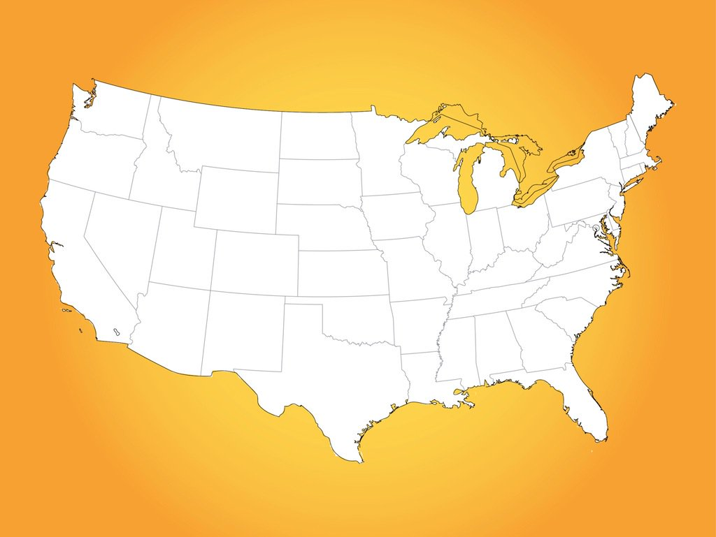 free vector map of united states awesome graphic library