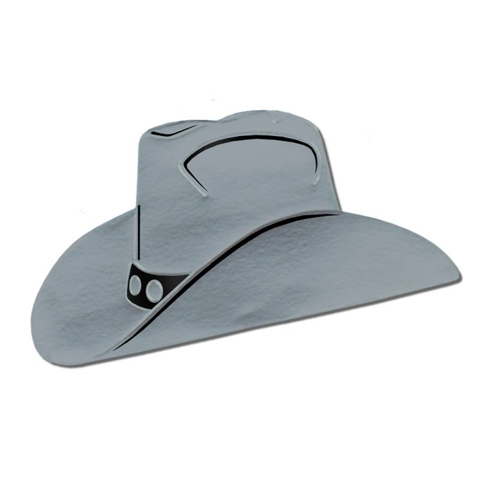 700x700 East Urban Home Foil Cowboy Hat Silhouette Wall Decor Amp Reviews