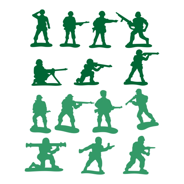 600x600 Army Soldiers Pack Cuttable Design