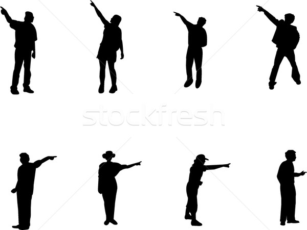 600x451 Silhouettes Pointing In One Way Vector Illustration Slobodan