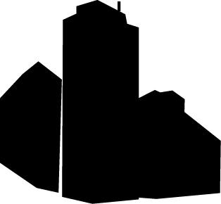 314x290 Building Silhouette Clipart