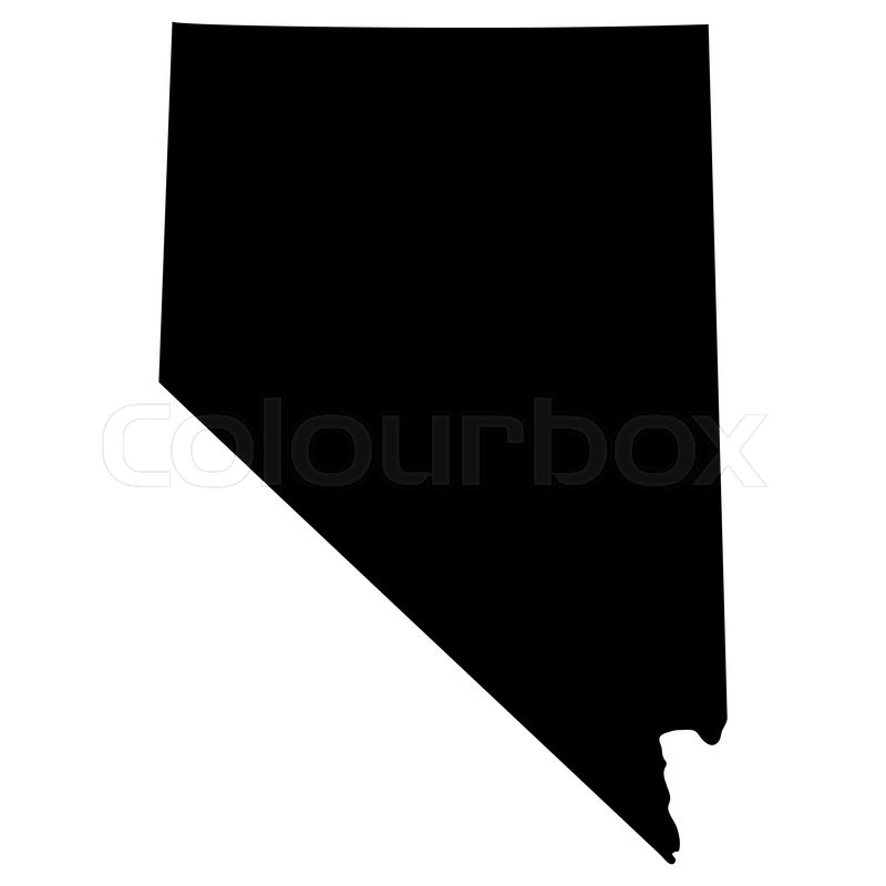 800x800 us map silhouette vector