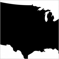 200x200 Lincoln Silhouette Pattern 2000 Free Patterns