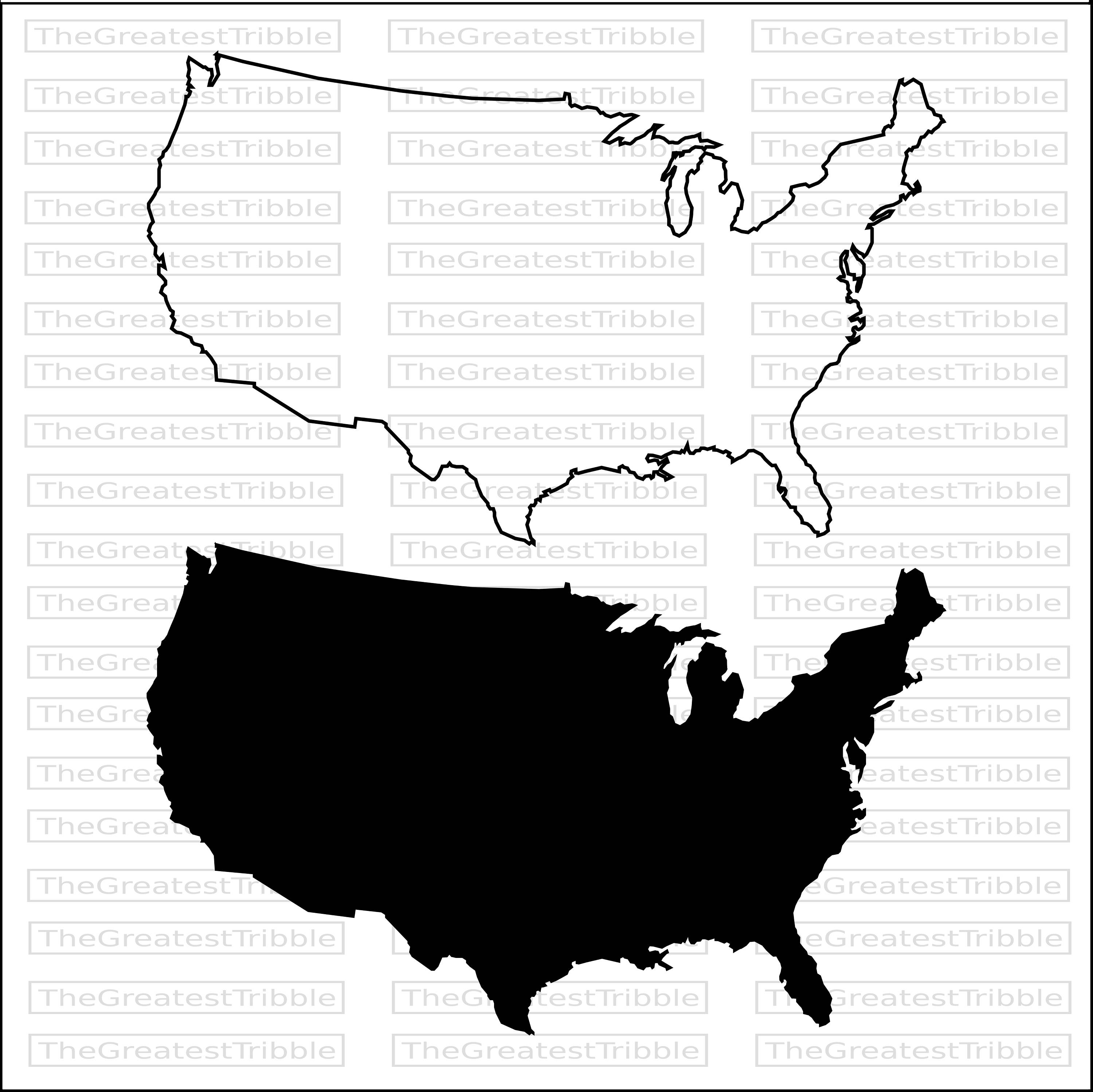 us map silhouette vector at getdrawings com free for personal use