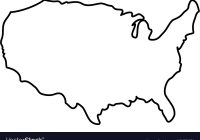 200x140 United States Map Silhouette