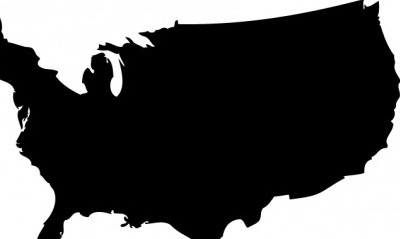 400x239 Vector Us Map Silhouette Silhouettes Vector Graphics