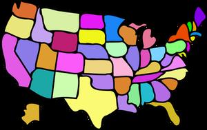 300x189 8290 Free Vector Usa Map Outline Public Domain Vectors
