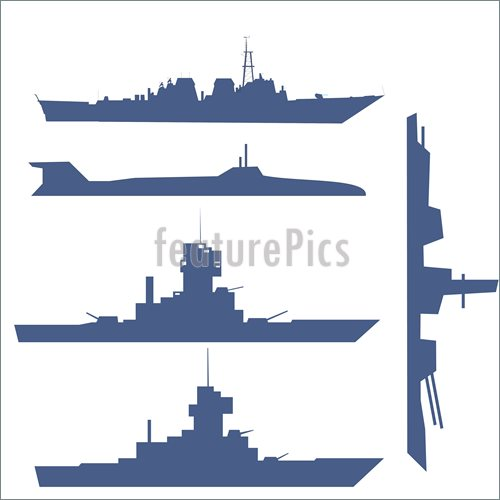 500x500 Illustration Of Four Ship Silhouette Collection