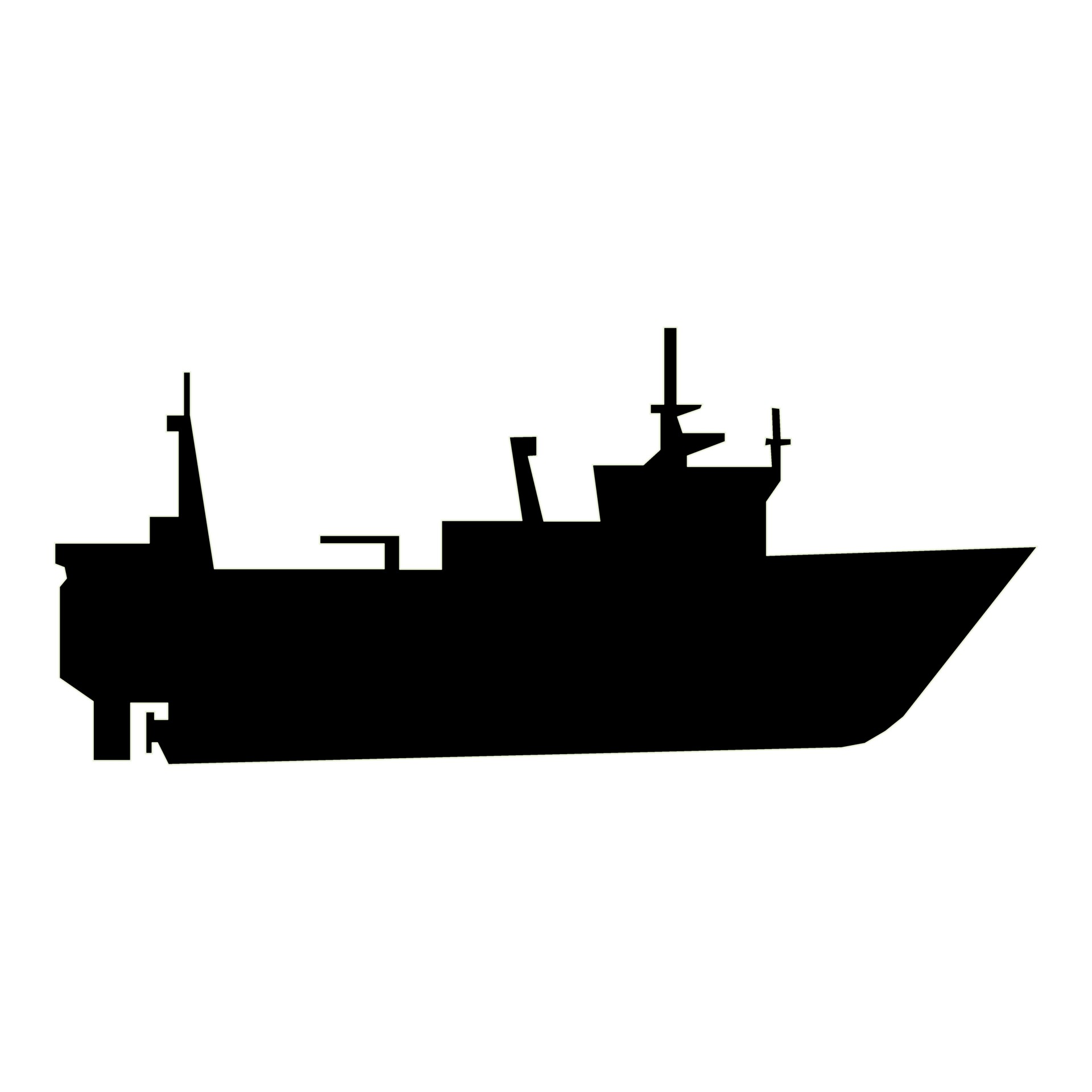1920x1920 Motorboat Silhouette Free Stock Photo
