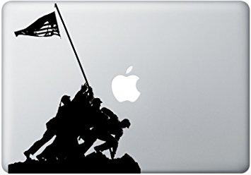 355x248 Silhouette Cutout Of American Marines Raising