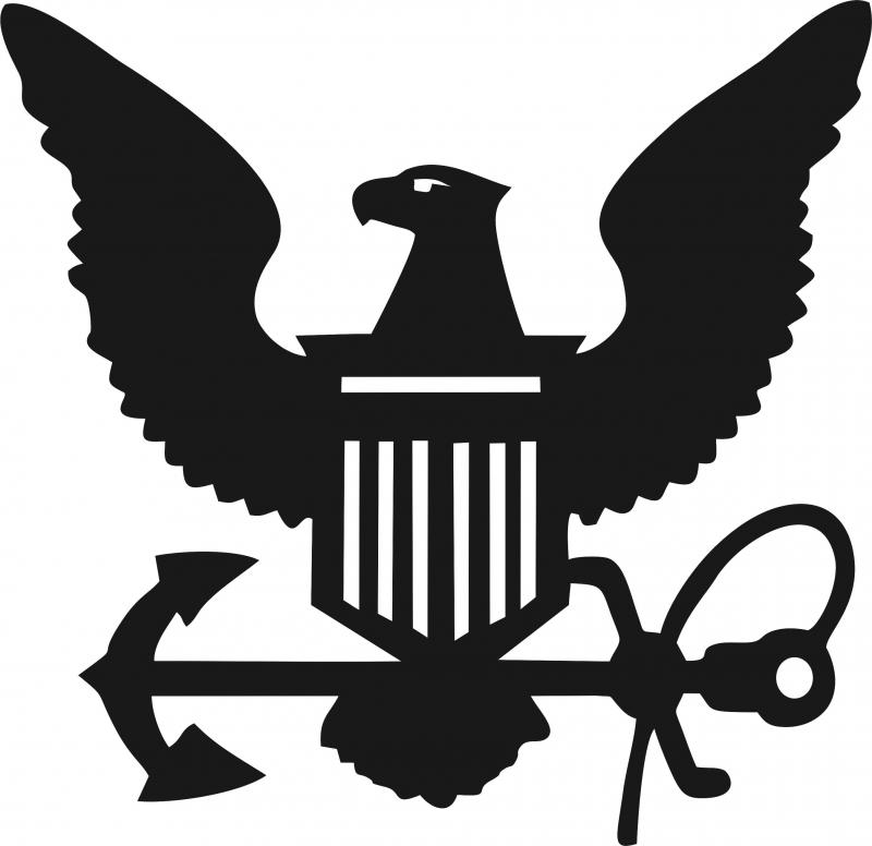 800x776 Navy Symbol Silhouette Die Cut Appliques