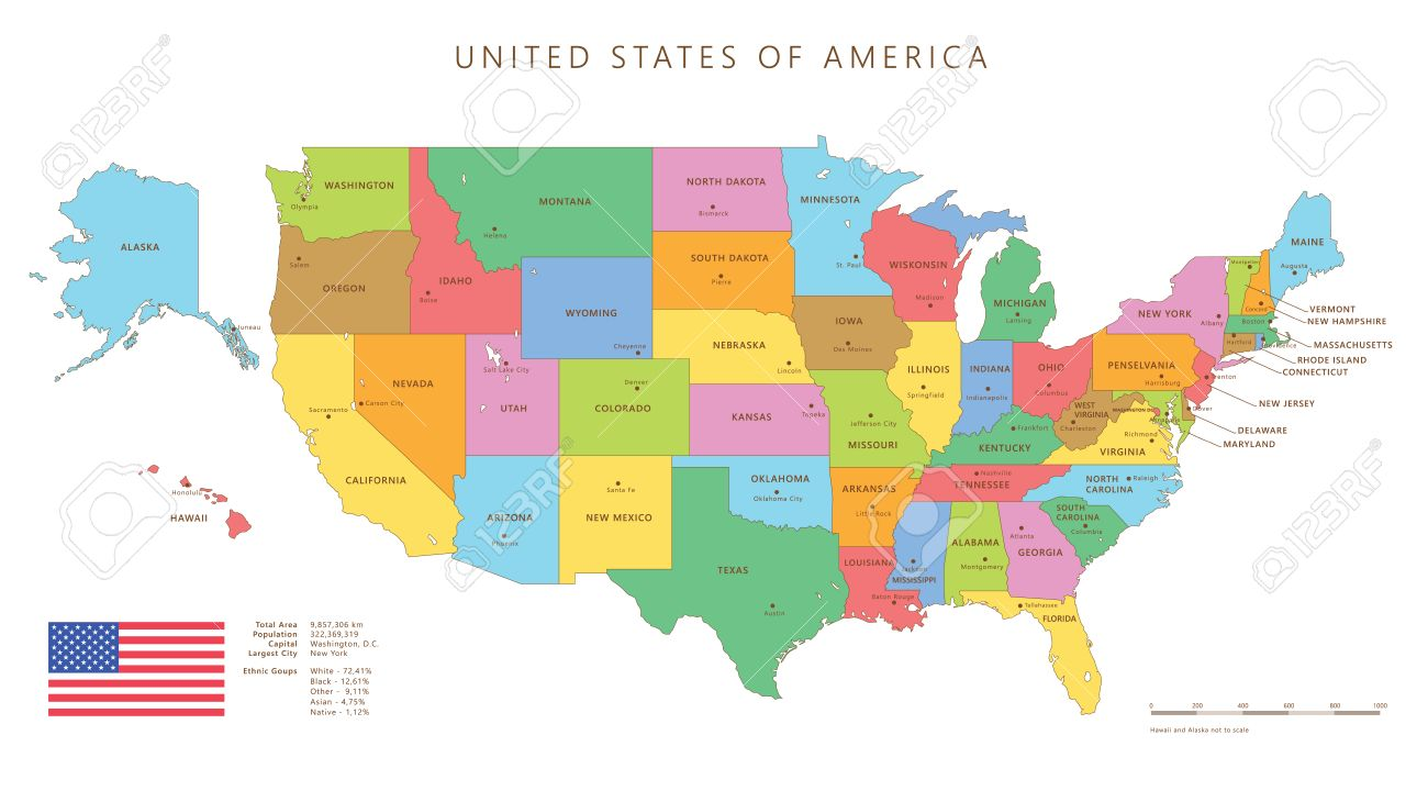 1300x720 Us Map With Alaska Silhouette 36792281 Dotted And Silhouette