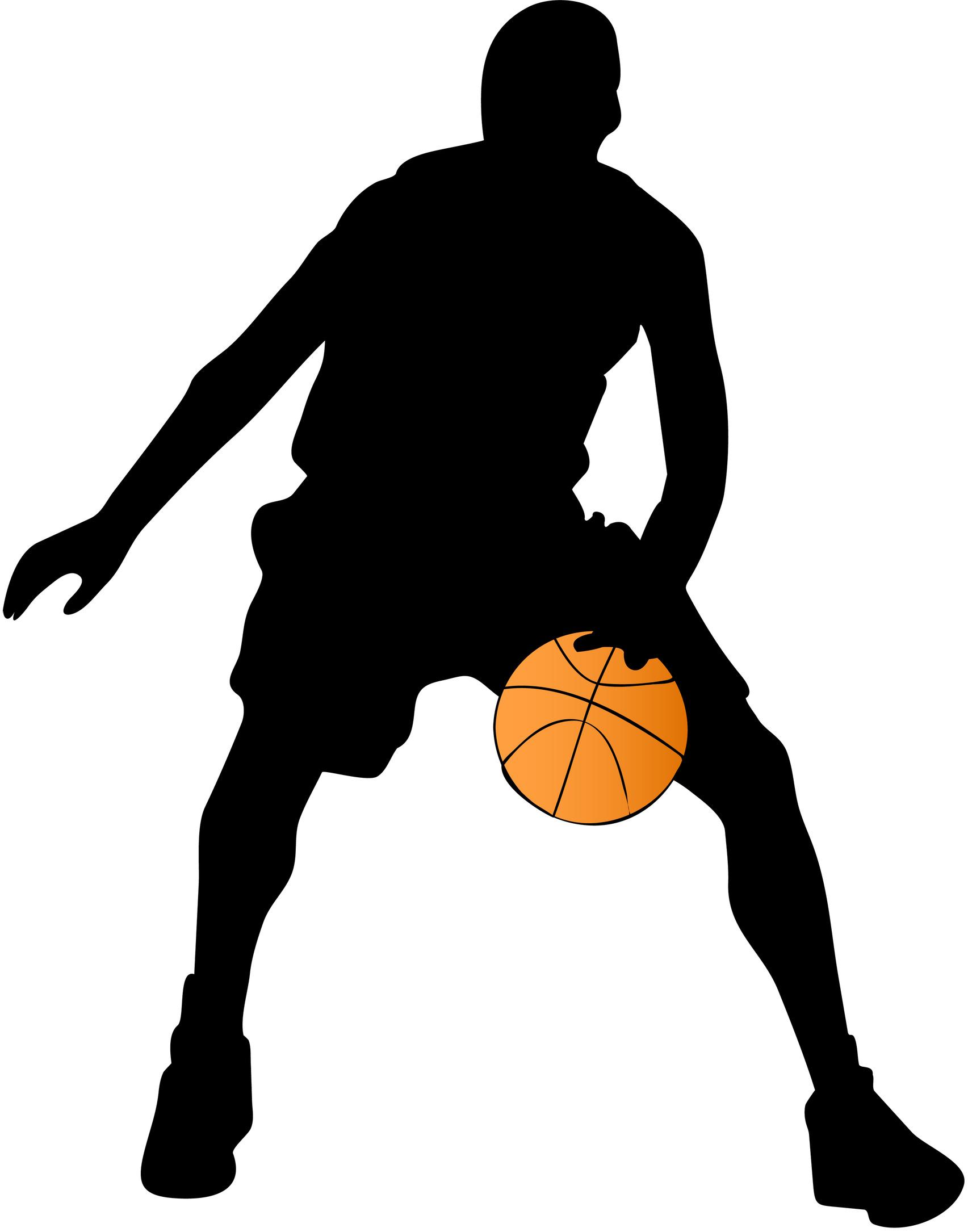 1705x2170 Basketball Player Silhouette