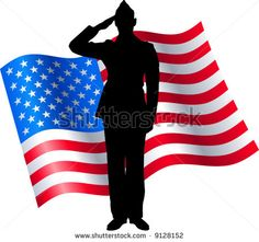 236x221 Military Silhouettes Free Graphics Clipart 12368 Soldier Salute
