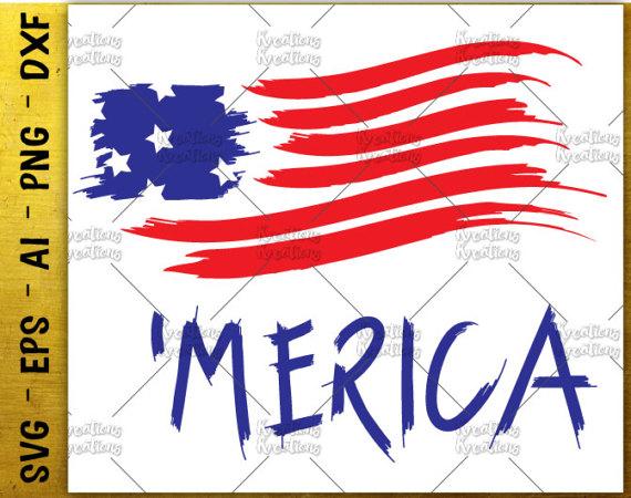 570x450 Merica Svg American Flag Svg Usa Flag Distressed Svg Patriotic Svg