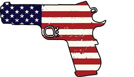 463x268 1911 Pistol Sticker