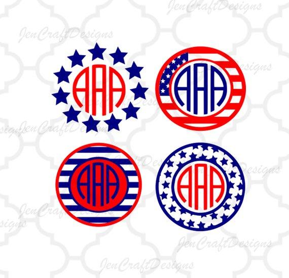 570x550 American Flag Svg, Usa Monogram Frames, 4th Of July Svg, Memorial