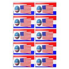 236x236 American Water Spaniel Silhouette Usa Flag Metal Print