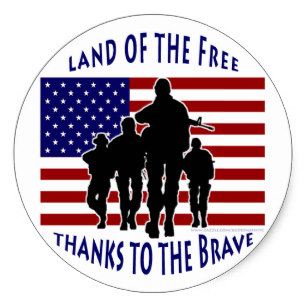 307x307 Flag With Soldier Silhouette Stickers Zazzle