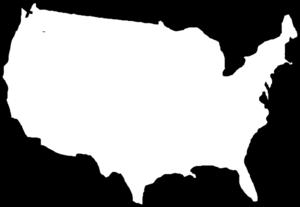 300x207 White Map Usa Clip Art