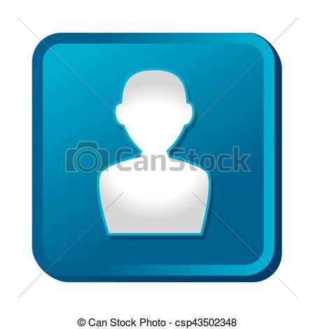 450x470 User Silhouette Button Icon Vector Illustration Design Eps Vector